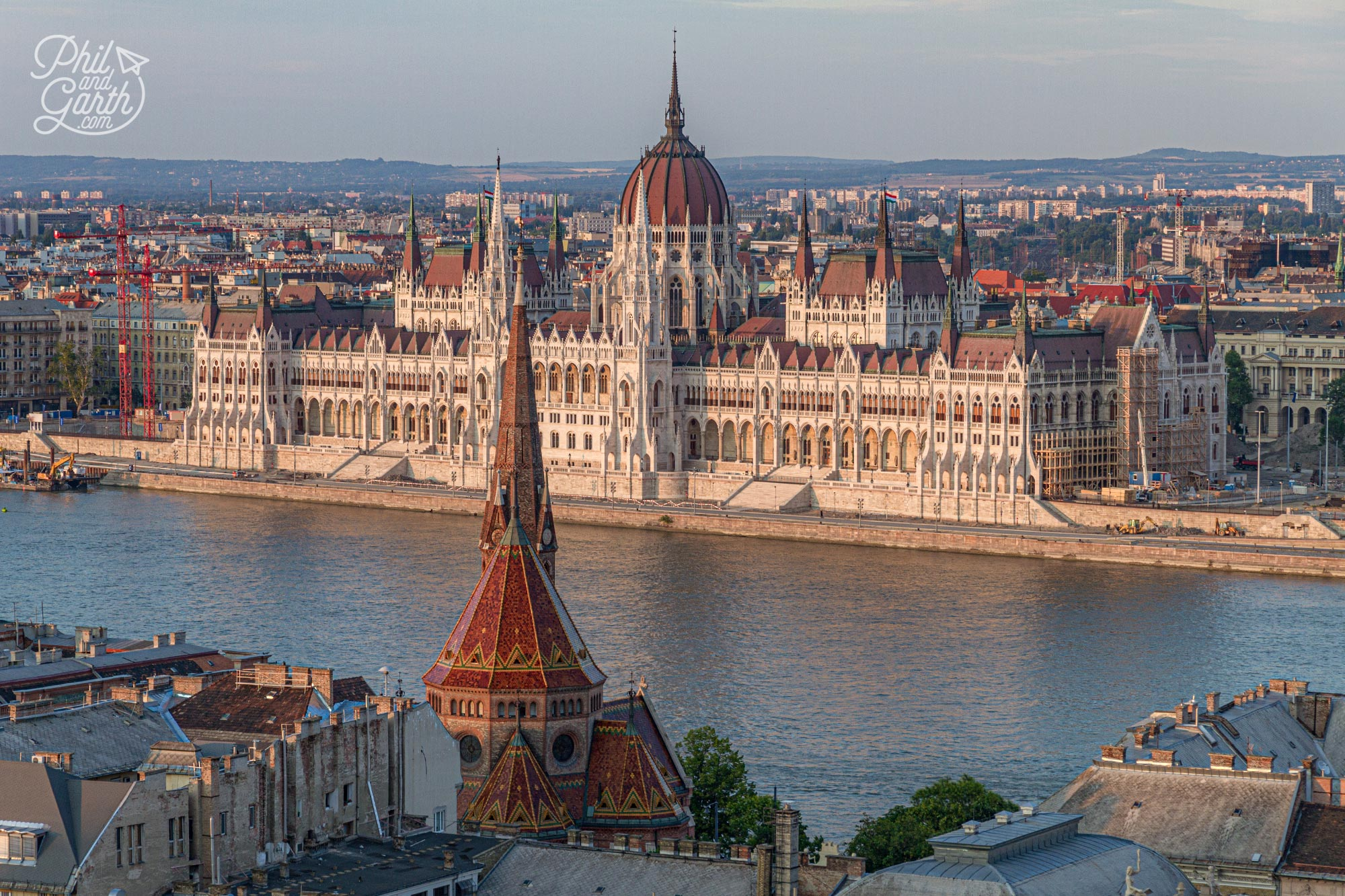 Fabulous views of the Hungarian Parliament Building from the Fisherman's Bastion towers