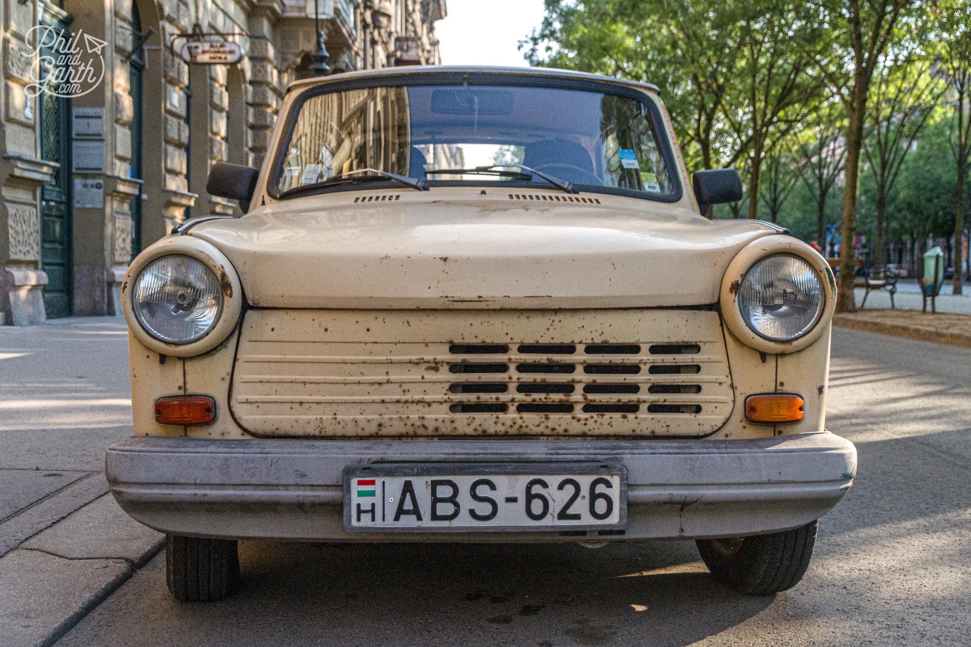 Signs of the past - a Trabant car. Budapest was once under the rule of the communist Soviet Union for 40 years