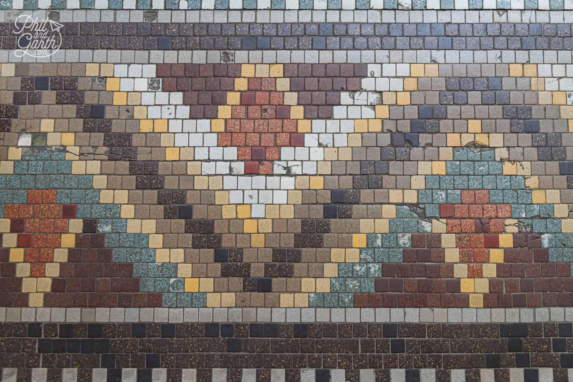 Love the colour palette of the mosaic floor designs