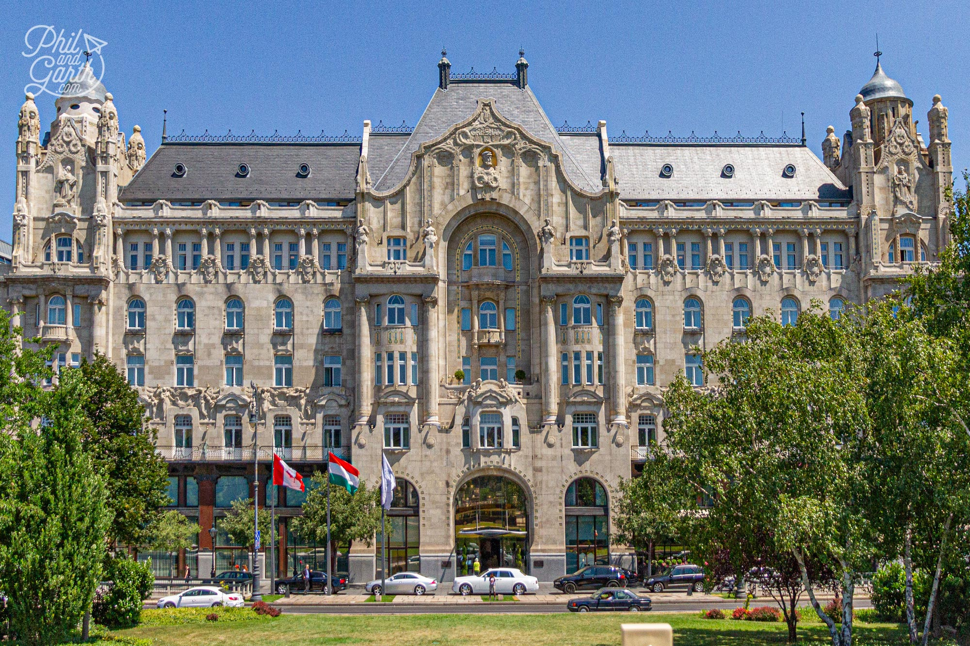 The Art Nouveau Gresham Palace now The Four Seasons luxury hotel - On our Budapest In 2 Days Itinerary