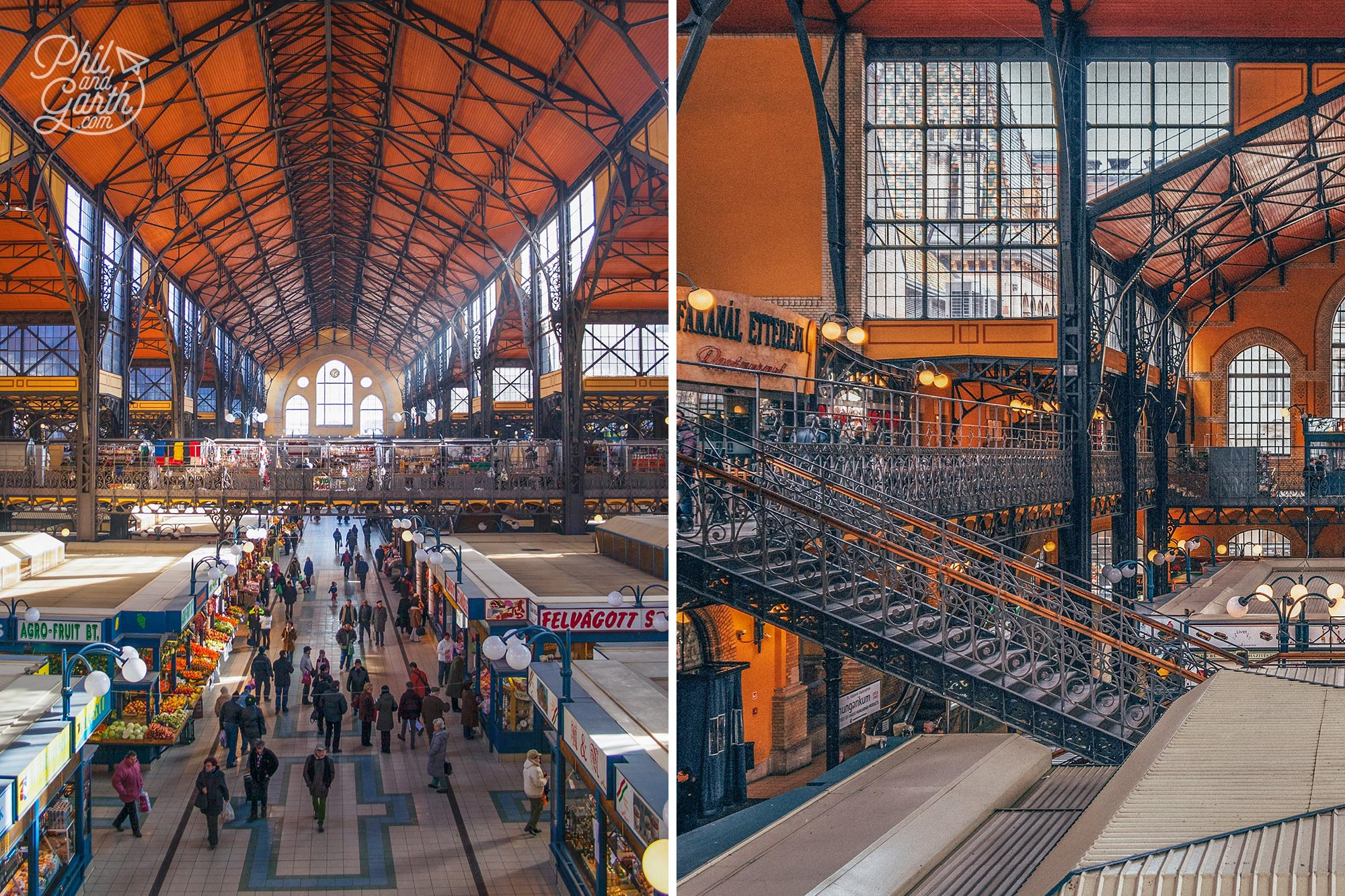Budapest two days - The Great Market Hall is a perfect place to stop for lunch