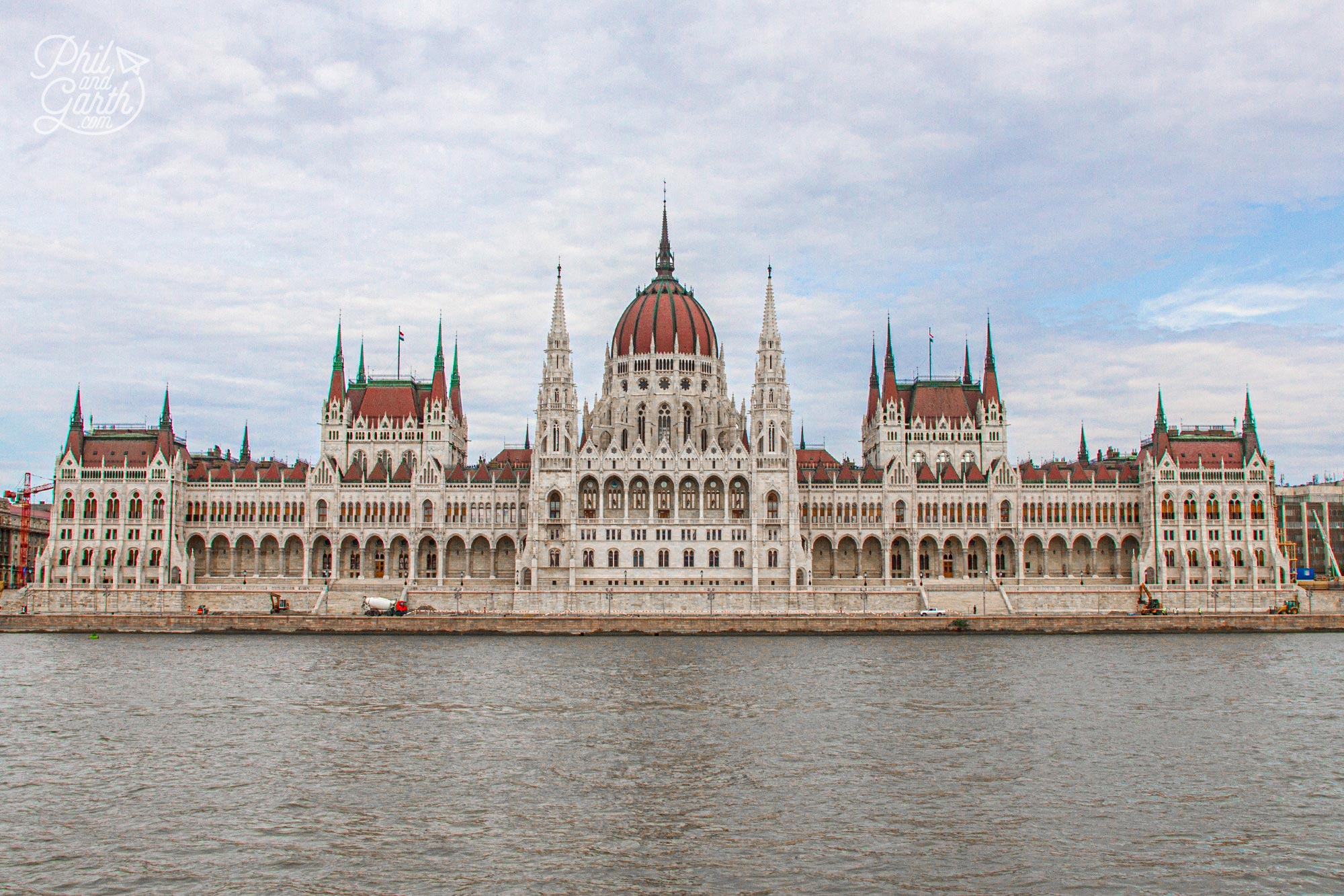 The Hungarian Parliament Building is best viewed head on from the River Danube