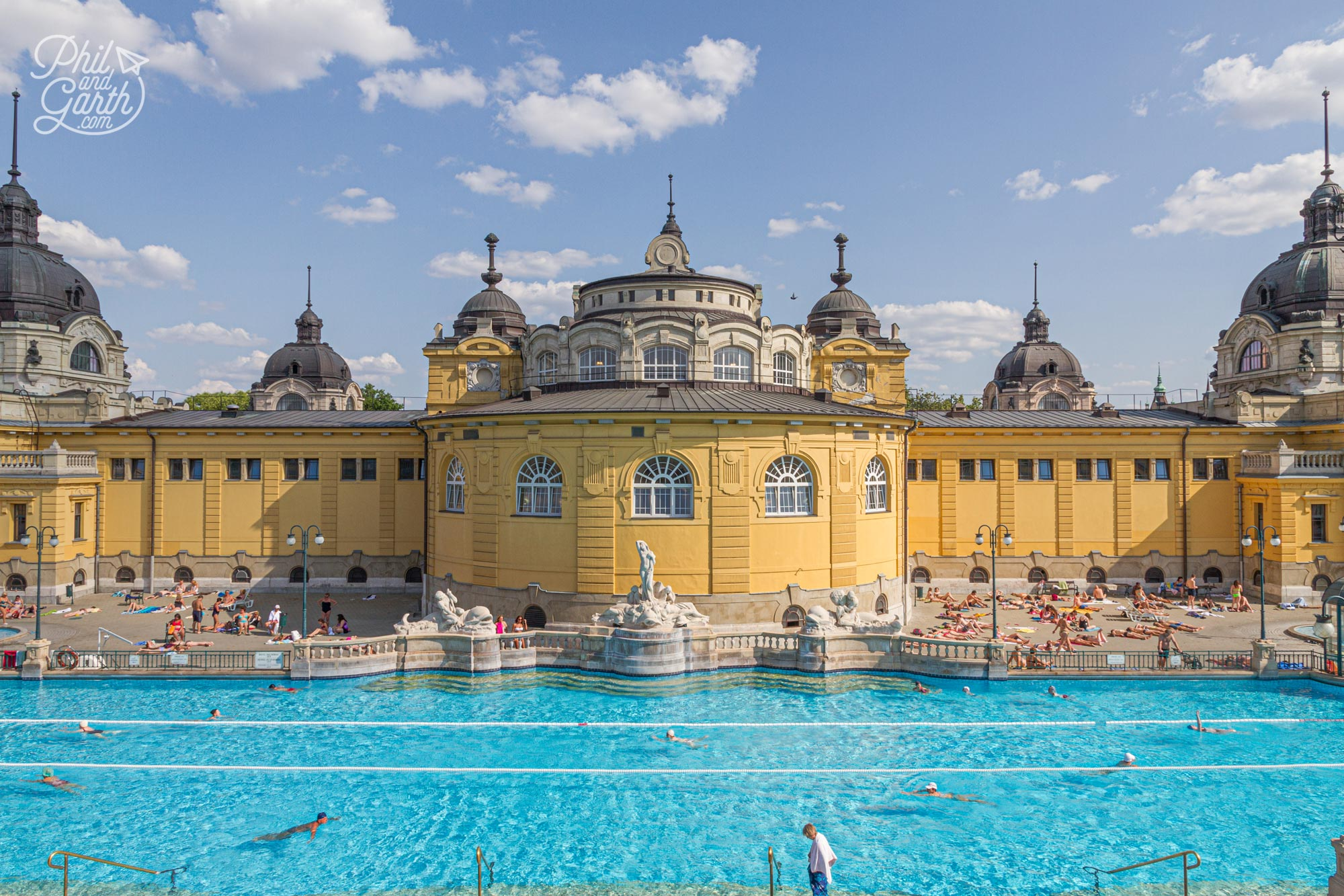 The Széchenyi Baths is a must do whilst you spend 2 days in Budapest
