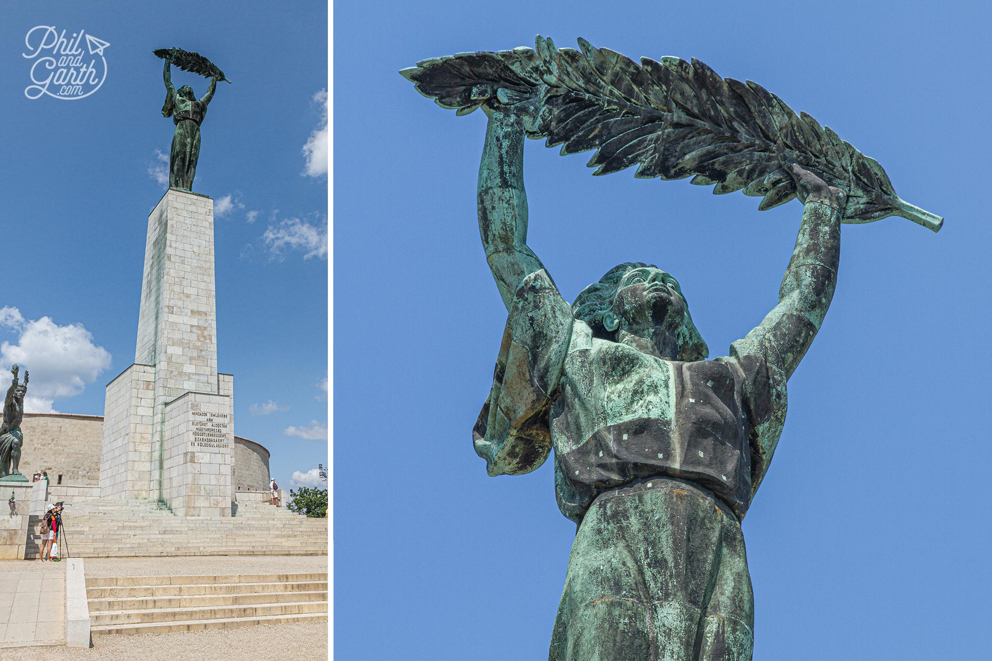 The old communist Liberation Monument became Liberty Statue