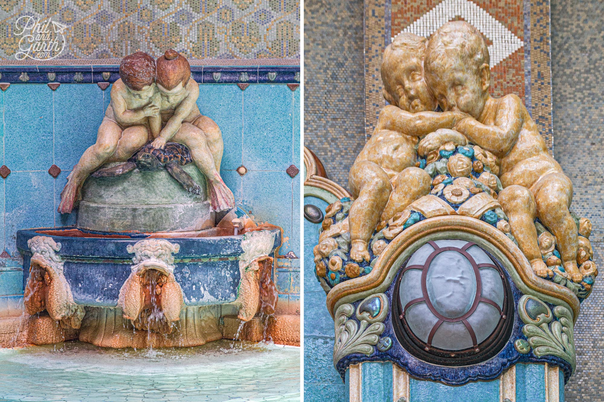 The thermal pools have the best art nouveau features