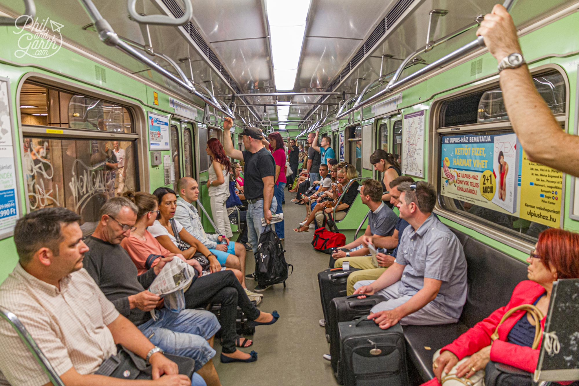 Travelling on Budapest's undergrpund Metro is an easy way to get around