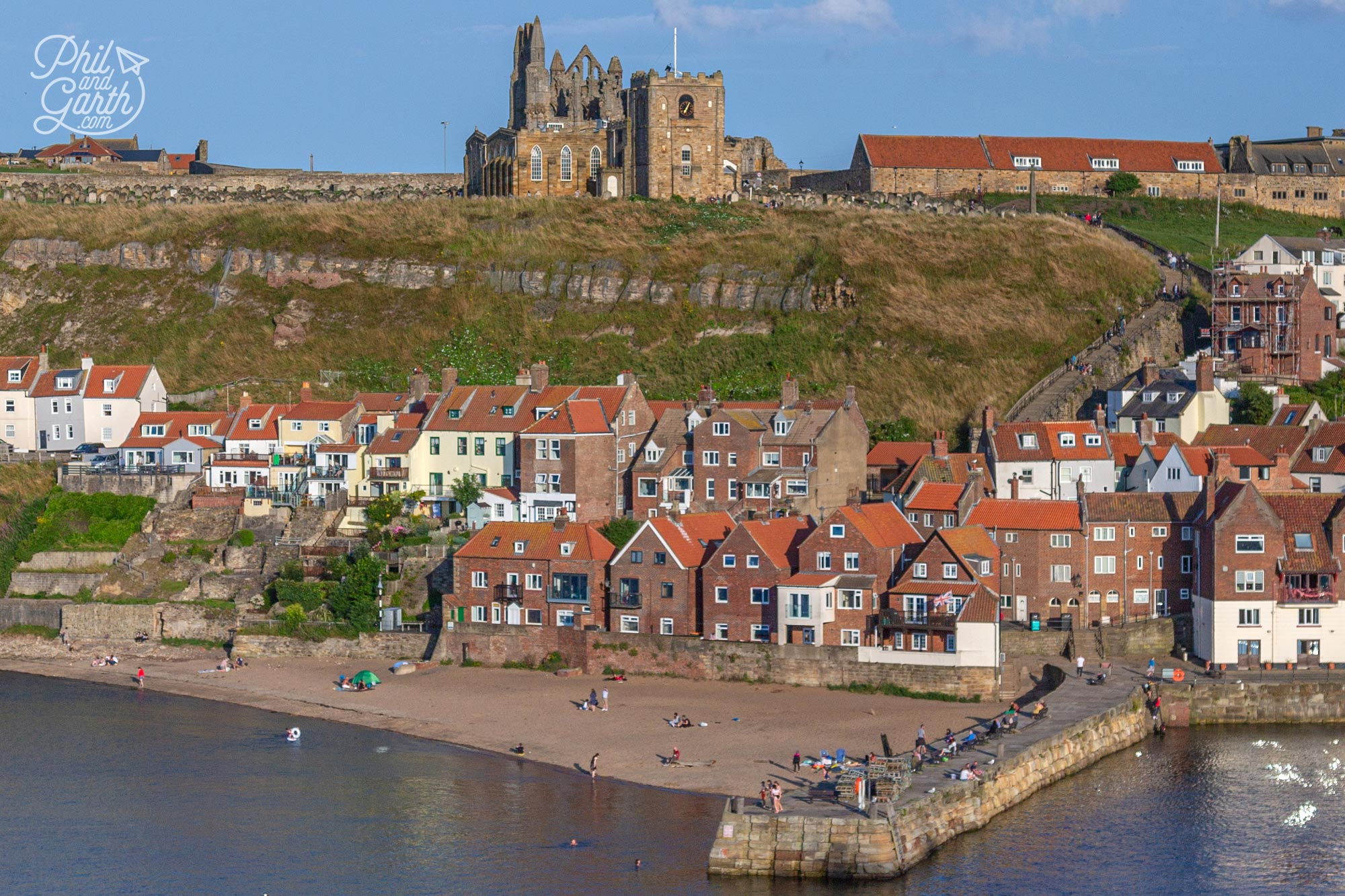 At the far end of Whitby harbour is a small beach called Tate Hill Beach