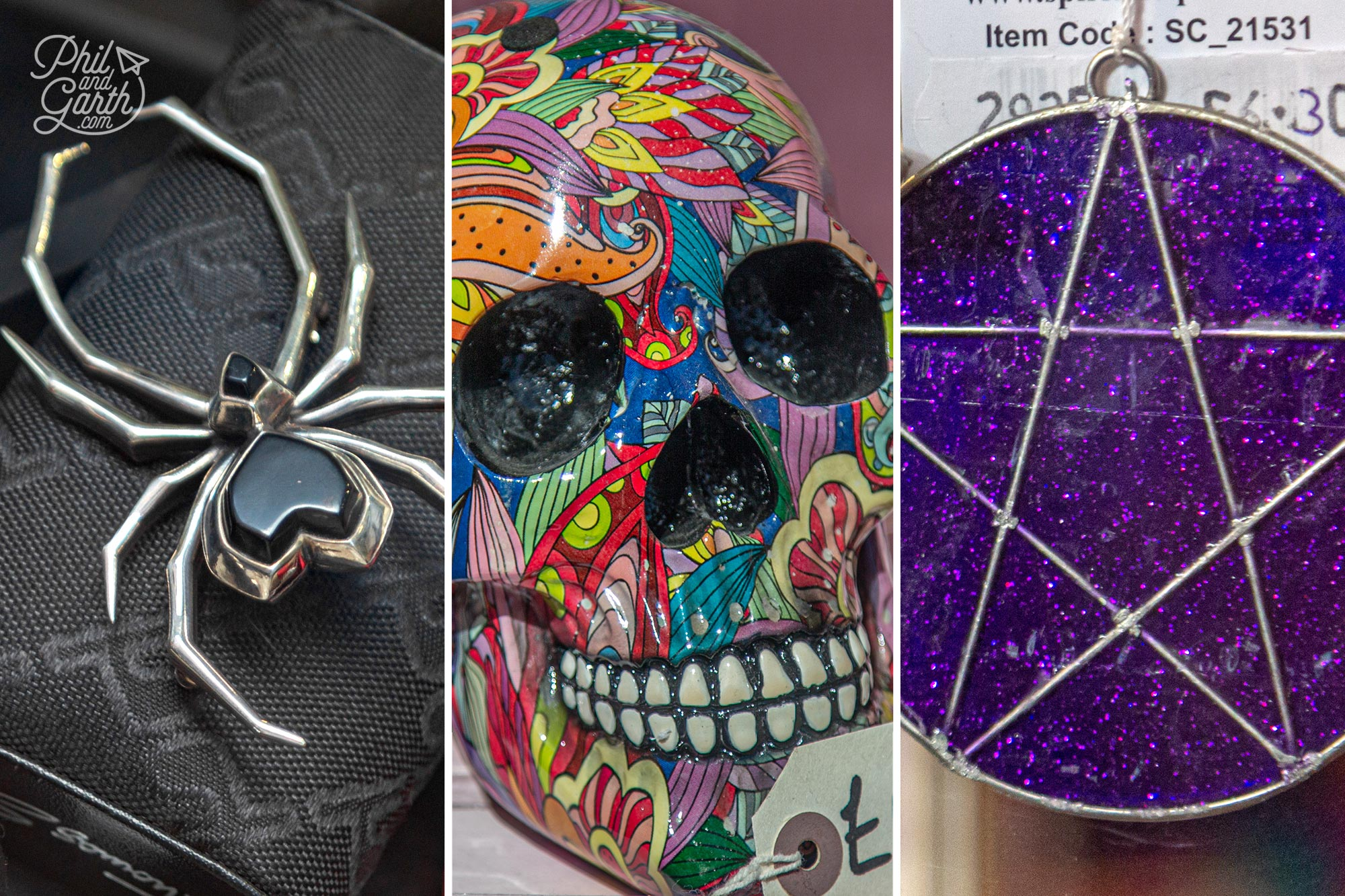 Gothic gifts for sale in Whitby's old town