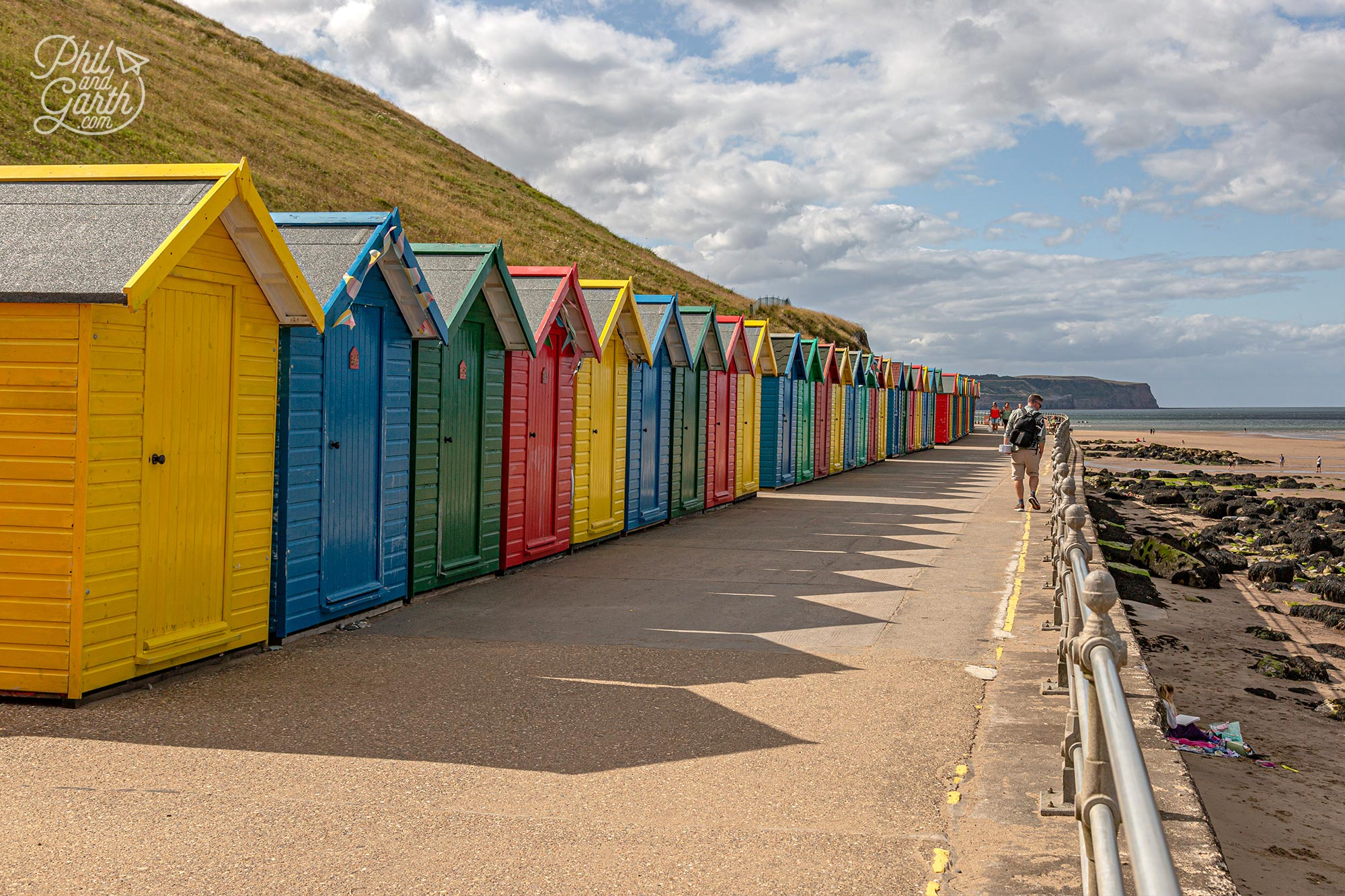It is possible to rent and book online one of these Whitby beach huts