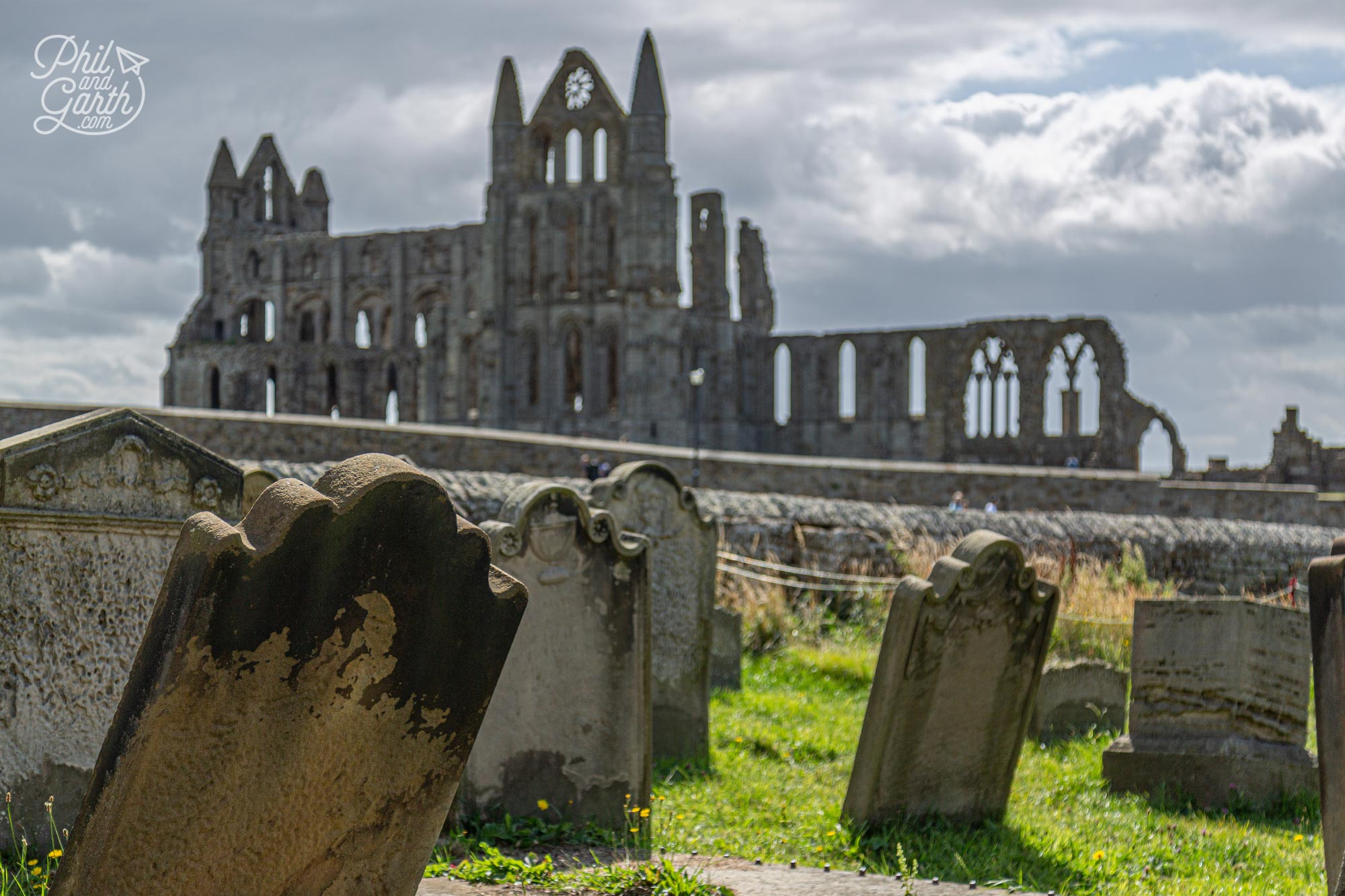 St Mary's graveyard with Whitby Abbey in the background