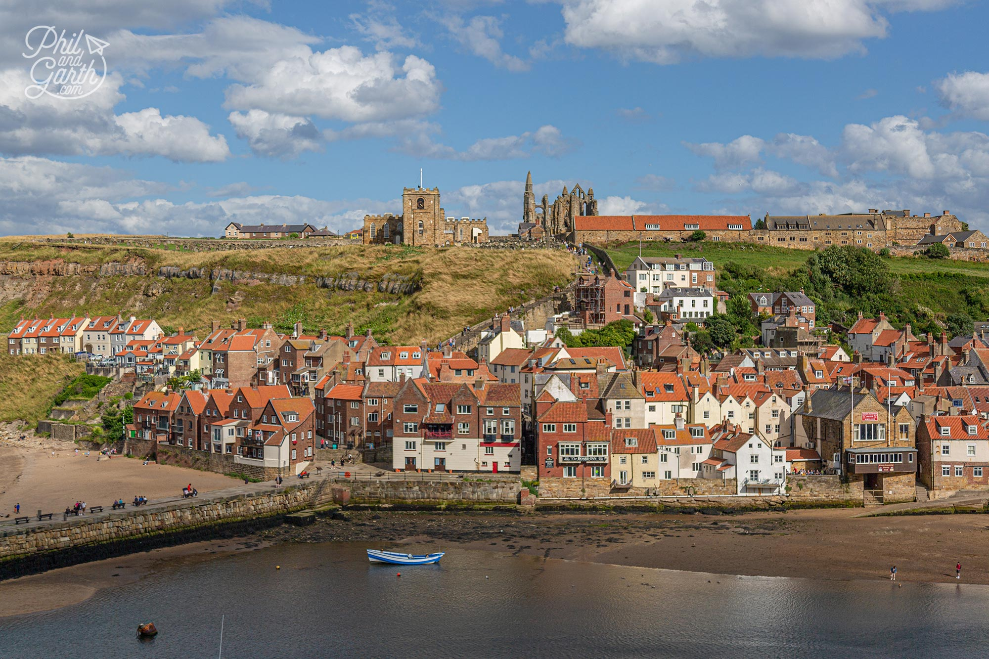 The view from the spot in Whitby that inspired Bram Stoker to use Whitby as the setting for Dracula