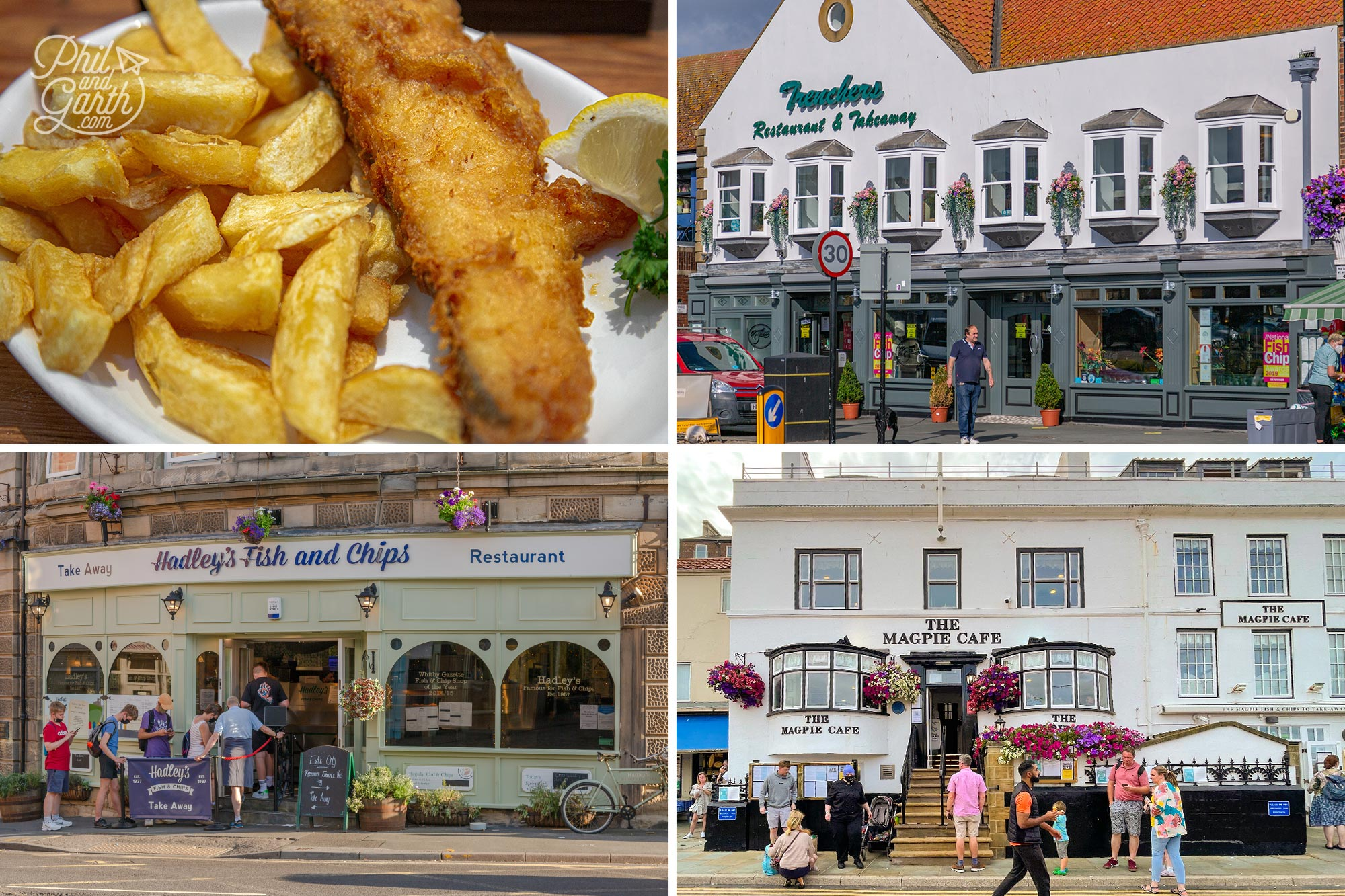 These are the top 3 restaurants for fish and chips in Whitby