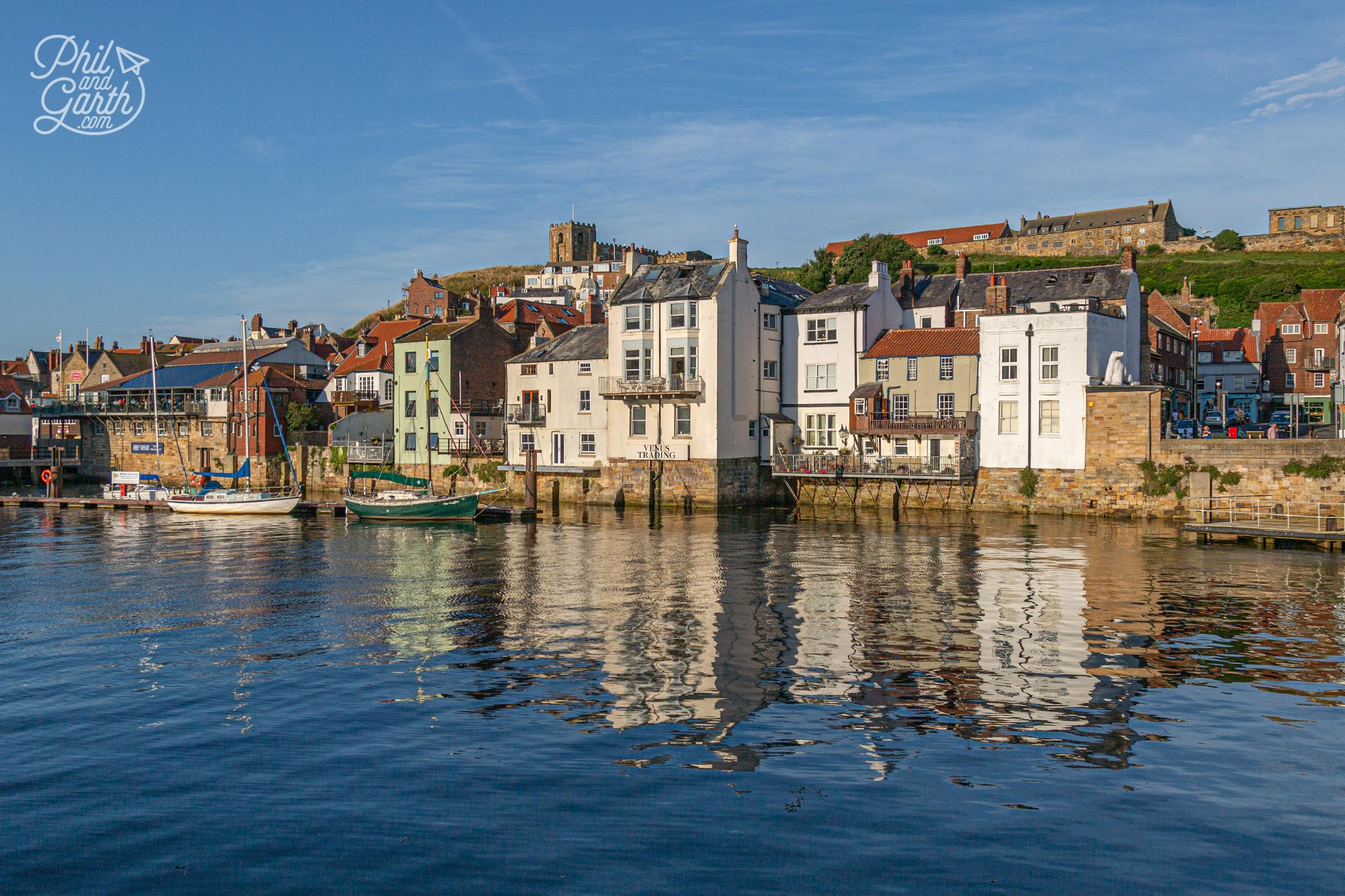 Whitby's pretty harbour where Captain James Cook was an apprentice