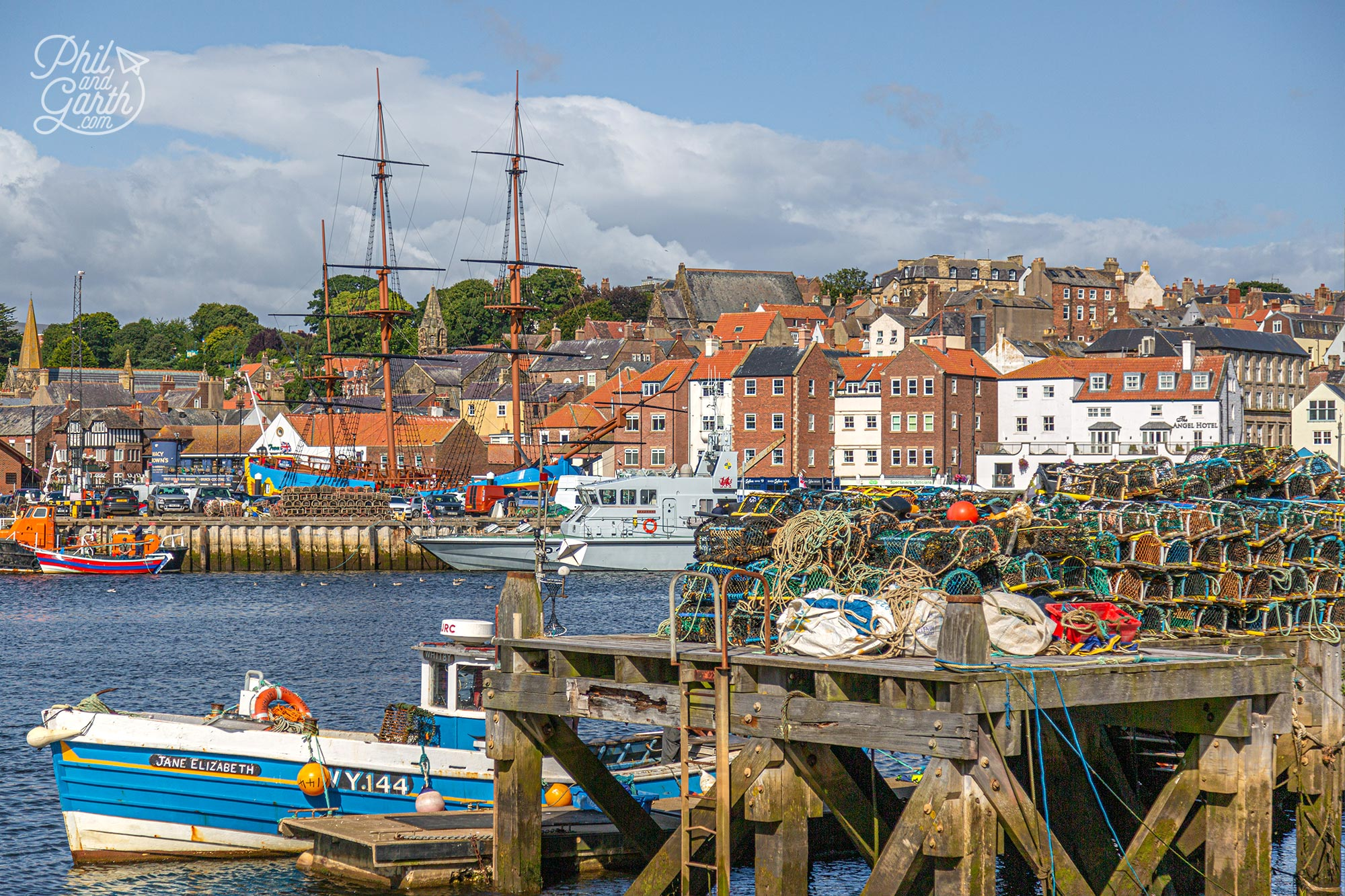 Whitby's bustling harbour is full of life - watch the fishing boats bring in their catch