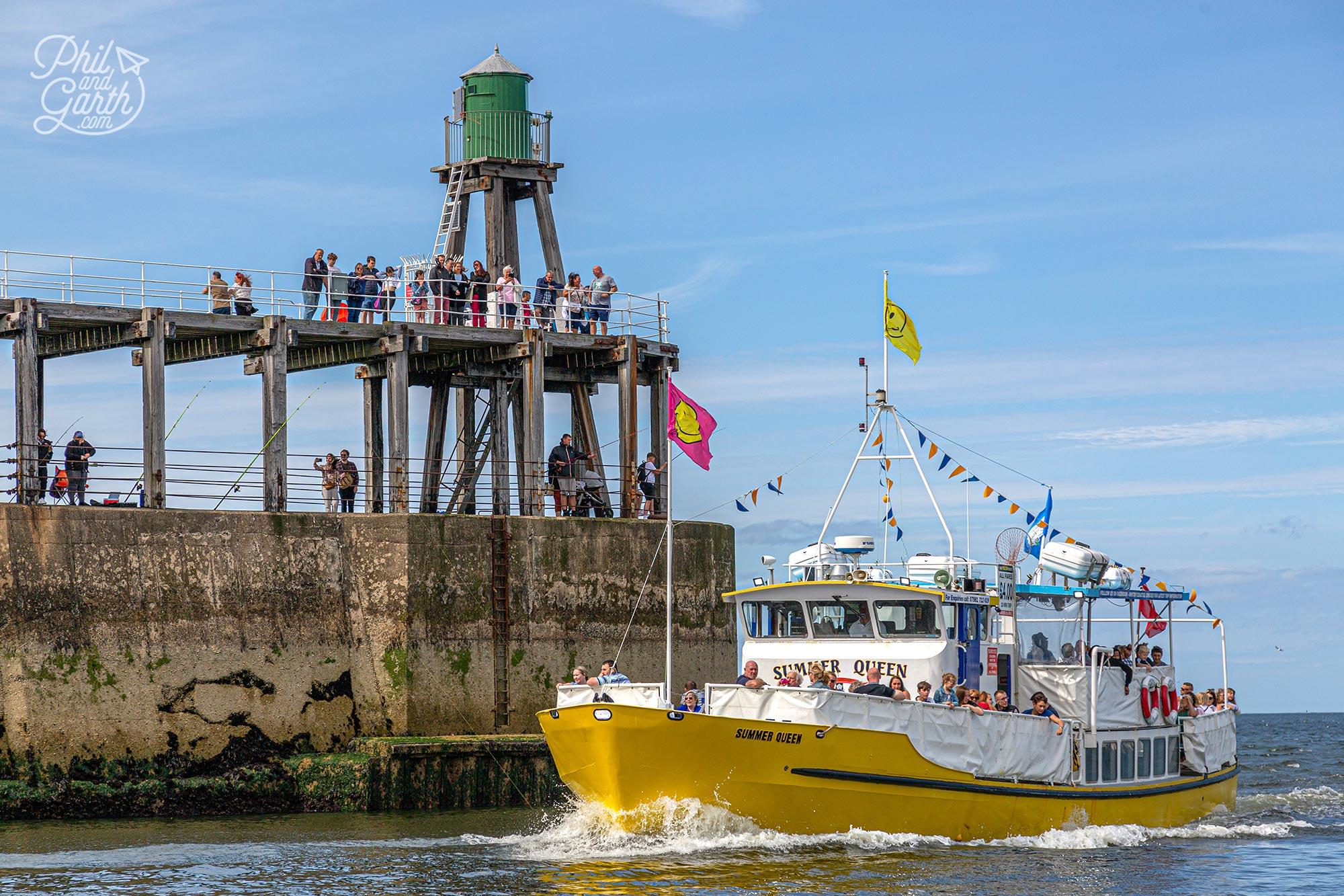Whitby harbour pleasure boat cruises last around 20 minutes