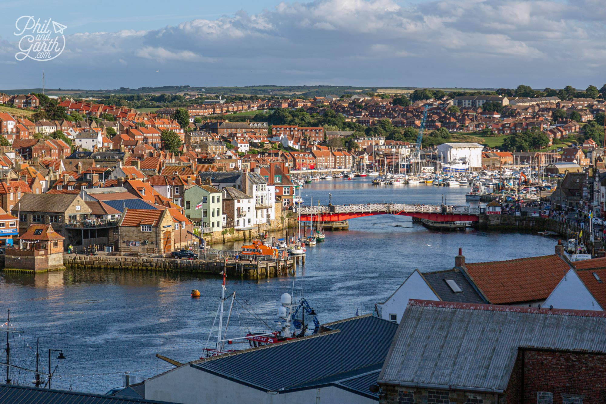 Whitby is located in North Yorkshire at the mouth of the River Esk on the North Sea