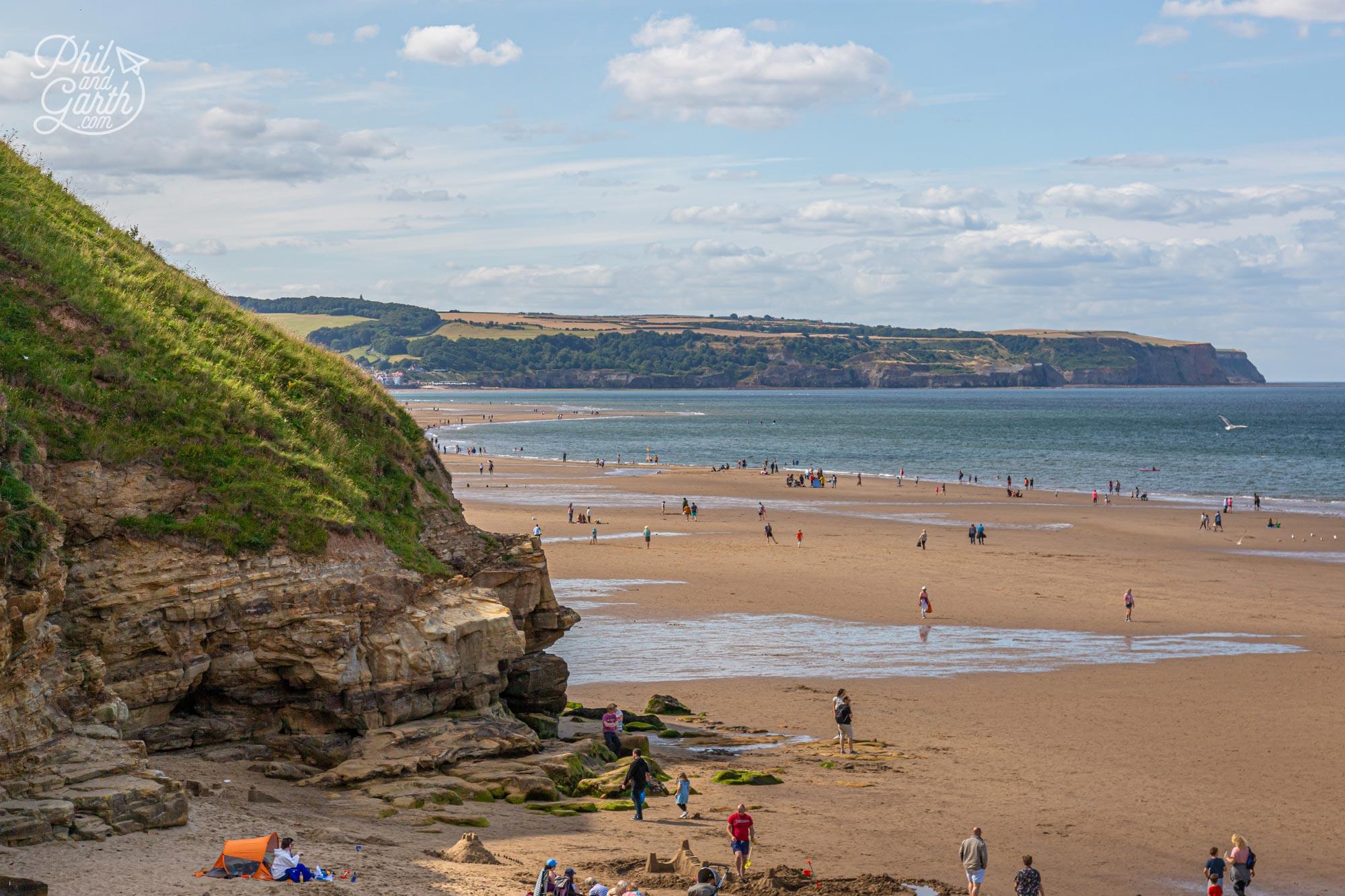 Whitby's golden sandy beach