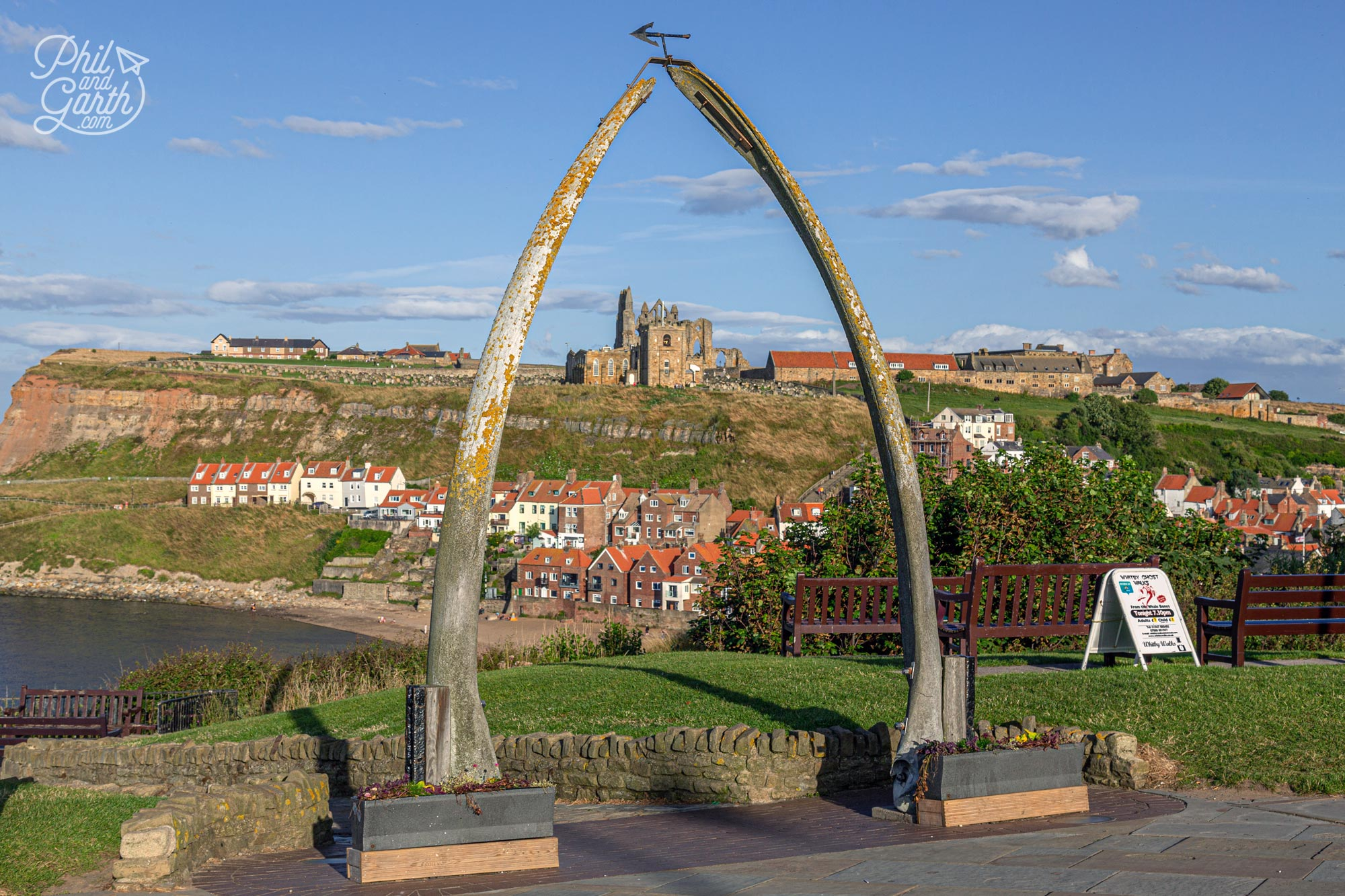 Whitby's iconic Whale Bone Arch is a monument to the towns maritime heritage
