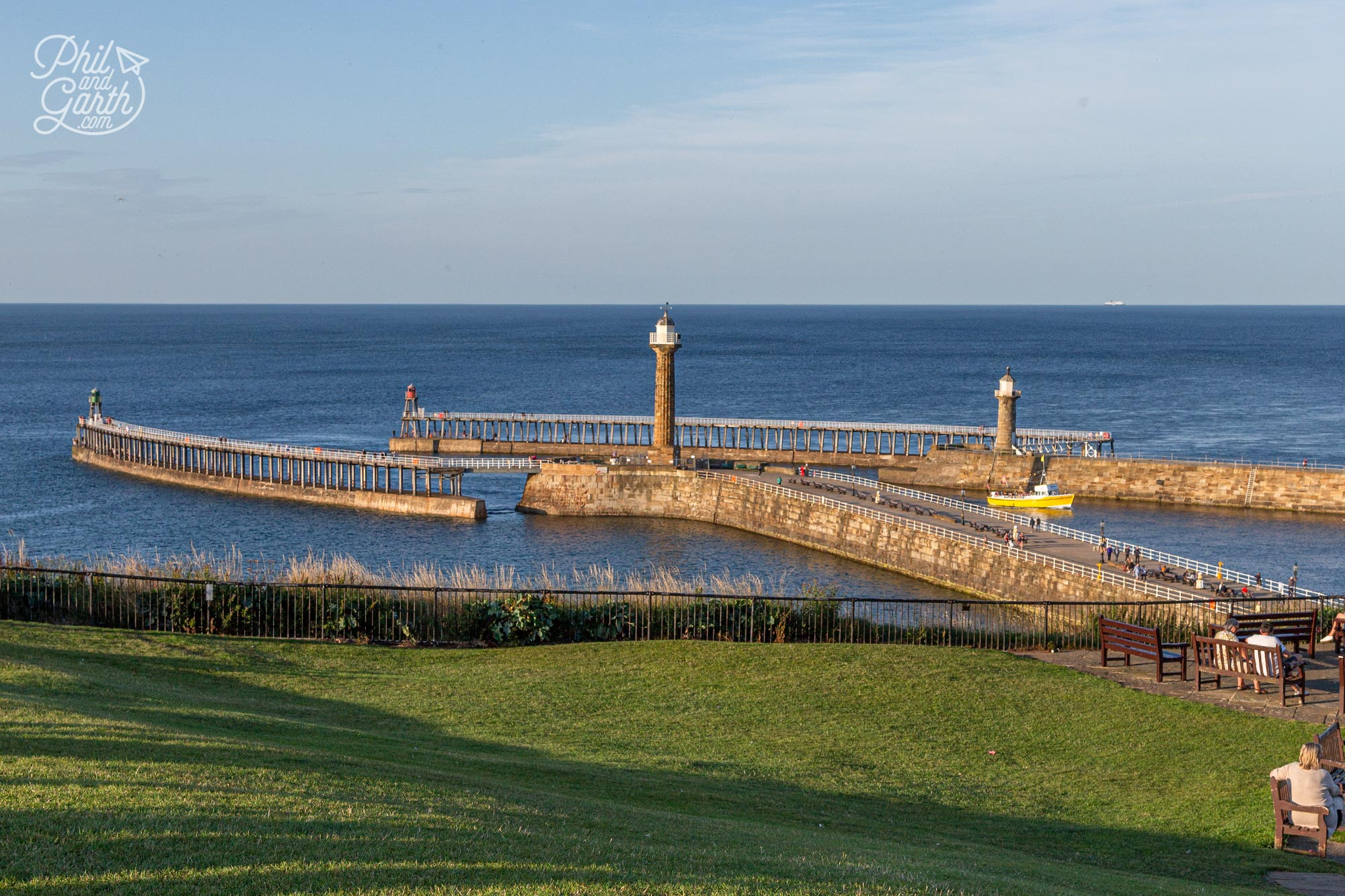 Whitby Piers - the perfect place to walk off a chippy lunch
