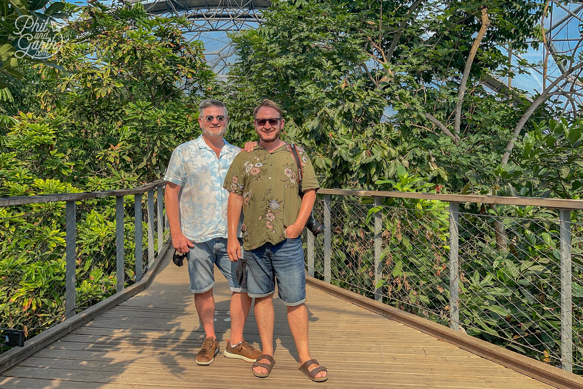Standing on one of the raised Rainforest Canopy Walkway in the rainforest biome