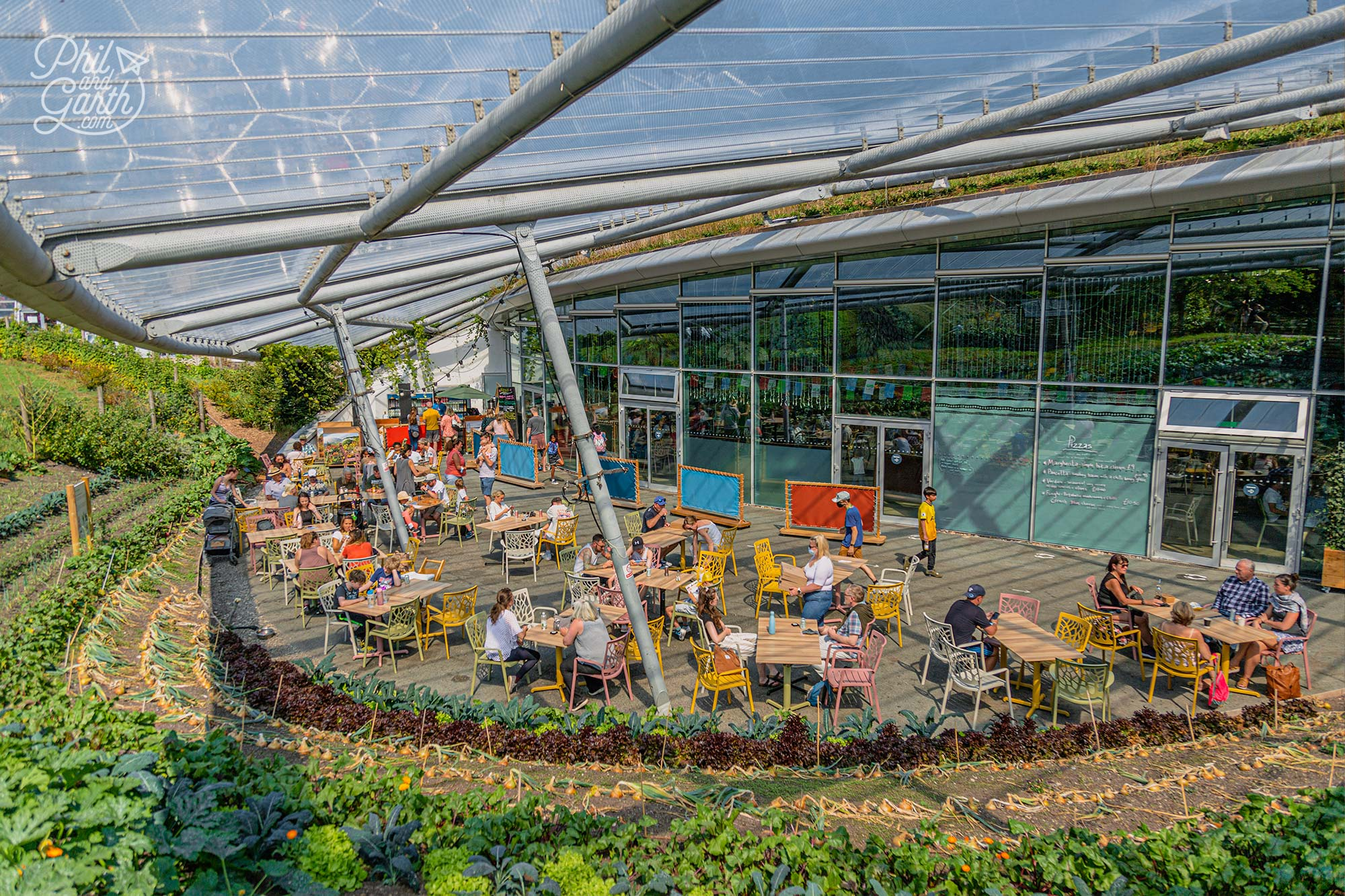 The Canopy Café in the building linking the 2 biomes