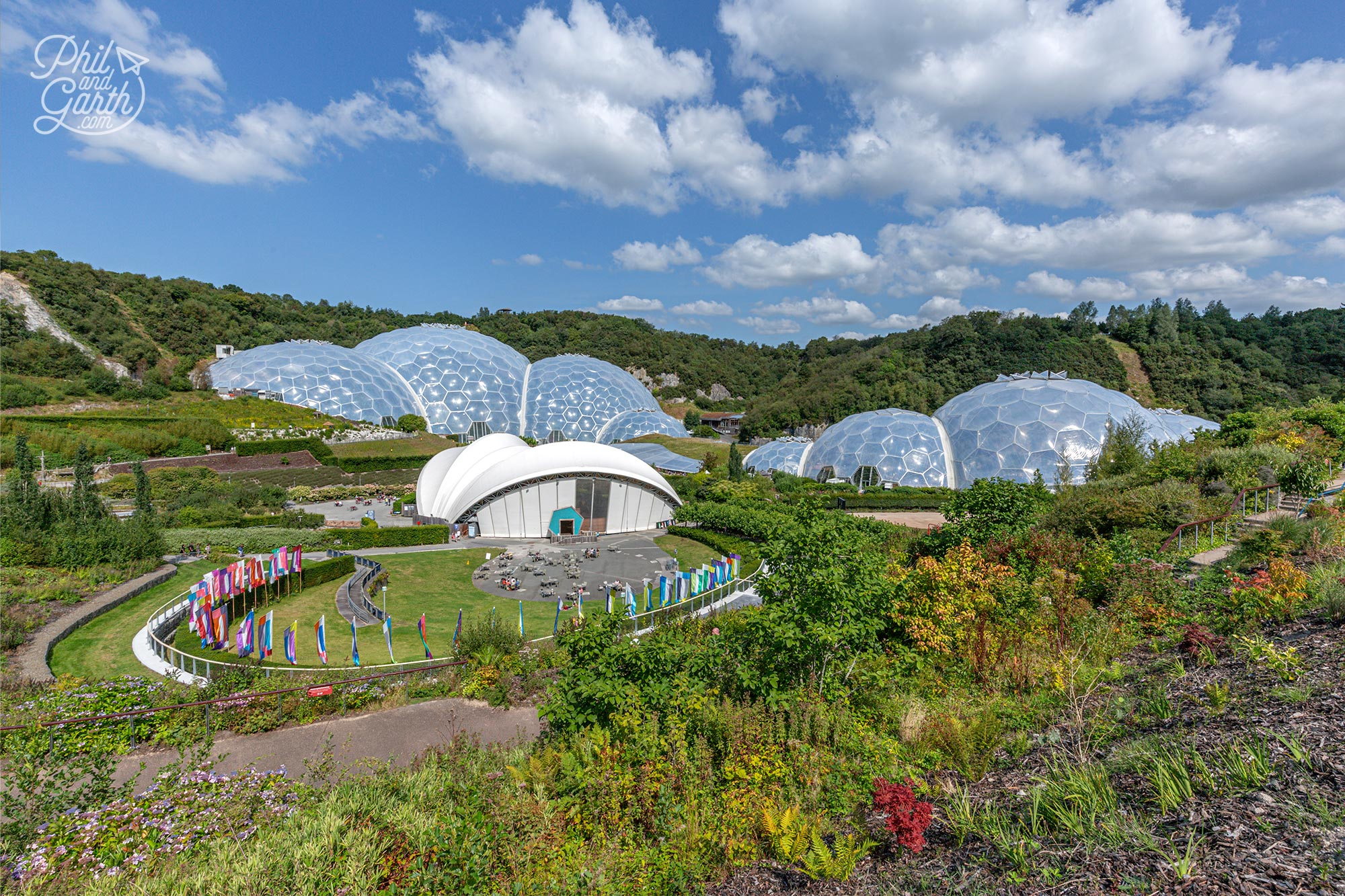 The Eden Project is a showcase for global bio diversity and sustainability